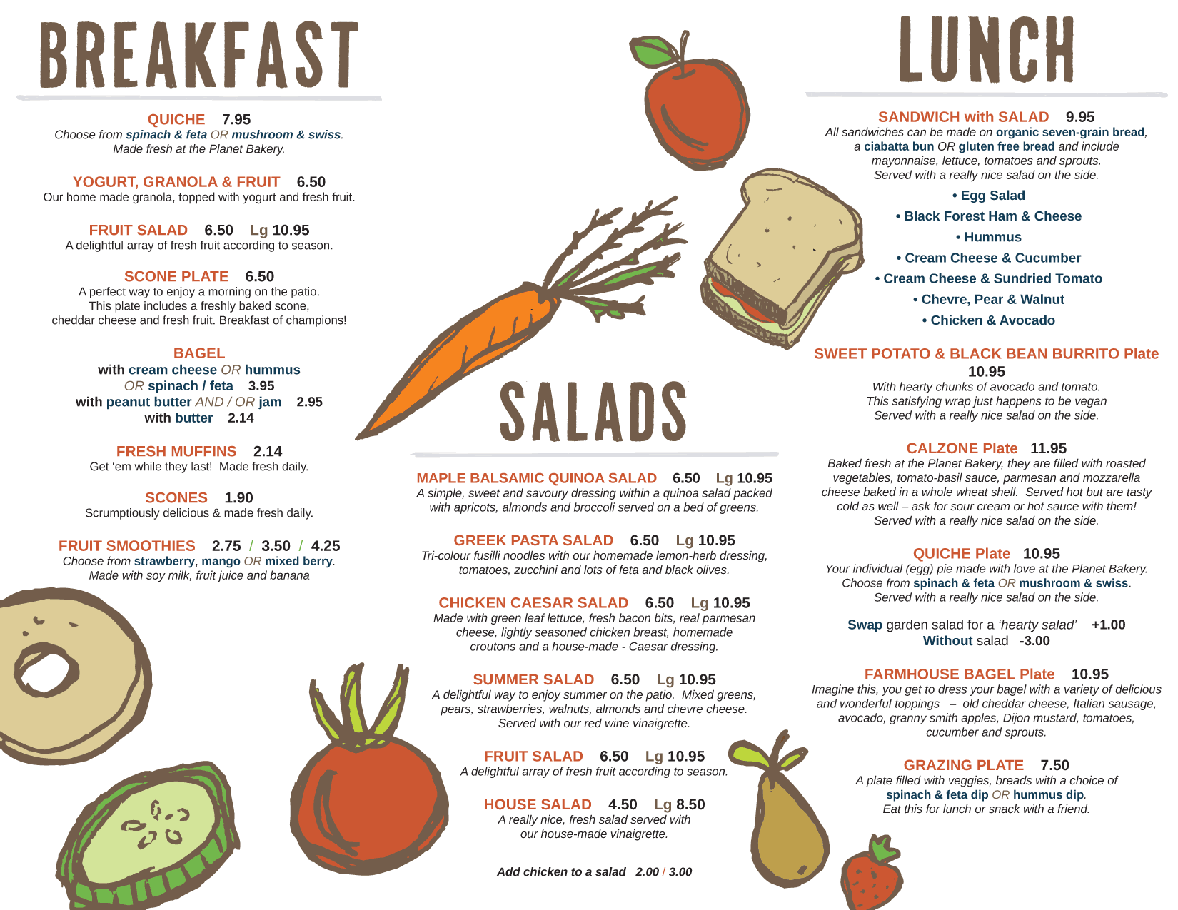 Real Food Cafe Lunch Menu